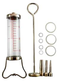 JANET Glass Syringe with 'O' ring